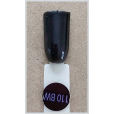 Гель-Лак Kodi  № 110 bw 8 мл. Черный с розовым шиммером.