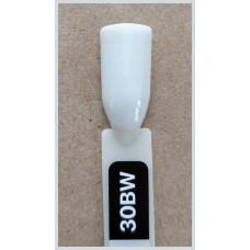 Гель-Лак Kodi  № 30 bw 12 мл. Плотный белый с легким оливково-серым оттенком.