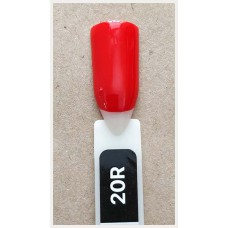 Гель-Лак Kodi  № 20 R  12 мл. Огненно-красный.