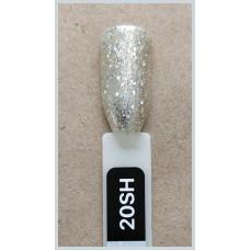 Гель-Лак Kodi  № 20 sh 8 мл. Холодное золото с голографиком.