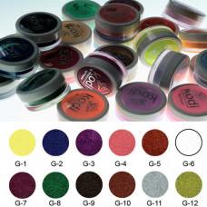 Коллекция цветных глиттерных пудр № 1-12 Kodi Professional.