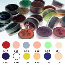 Коллекция цветных пудр № 49-60 Kodi professional с перламутром.