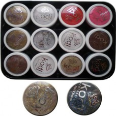 Коллекция цветных пудр с микропалочками № 37-48