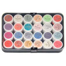 Коллекция цветных пудр № 49-72 Kodi Professional.